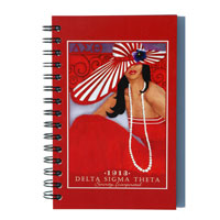hard cover spiral notebook with full color image
