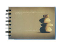 spiral prayer journal with full color digital image under clear poly cover