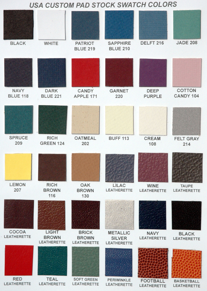 Standard Board Cover Colors